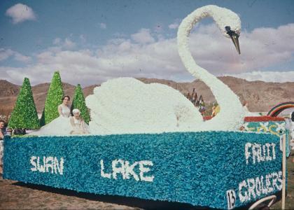 Alexandra Blossom Festival 1959 Swan Lake Float